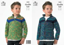 "3402 Knitting Pattern - Double Knit 22"" - 30""  Boys*"