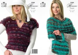 3384 Knitting Pattern - Romano Chunky 32 - 46