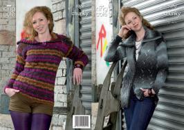 "3370 Knitting Pattern - Chunky 36 - 46"" Ladies*"