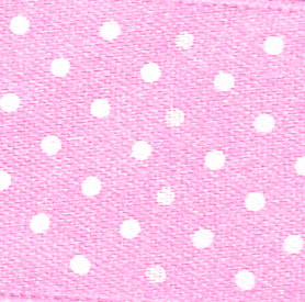 15mm Spotty Ribbon - Mini Baby Pink 5932-52