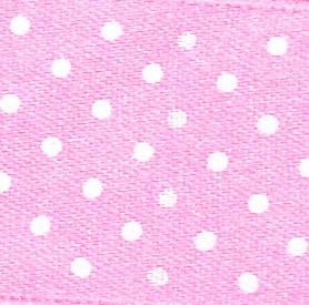 25mm Spotty Ribbon - Mini Baby Pink 5932-52