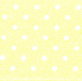 25mm Spotty Ribbon - Mini Lemon 5932-5