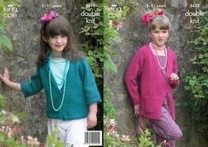 "3410 Knitting Pattern - Double Knit 24"" - 30"" Girls*"
