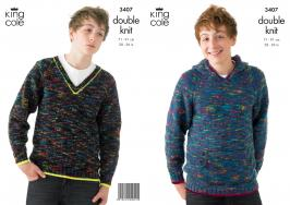 "3407 Knitting Pattern - Double Knit Boys or Girls 28"" - 36""*"