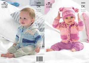 """3423 Knitting Pattern DK - 16"""" - 24"""" Baby Splash*"""
