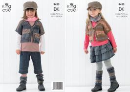 3425 knitting Pattern DK - 20/22 -28/30