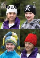 3442 Knitting Pattern  DK  - Childrens Hats*