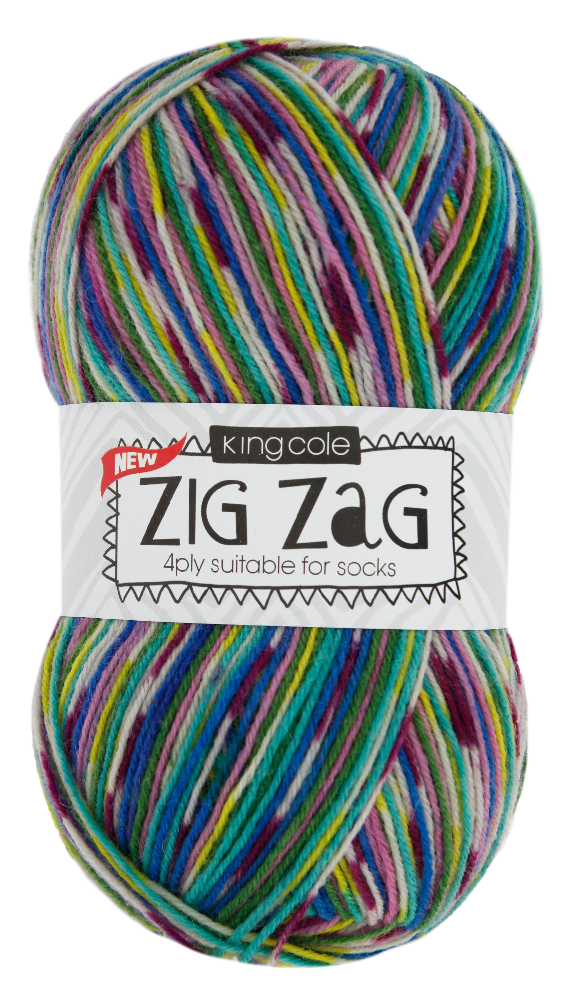 KING COLE ZIGZAG - 4 PLY
