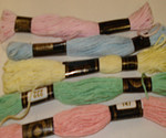 Embroidery Threads (Pastals) PK5