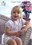 3160 Knitting Pattern - Girl's Double Knit ( Melody)*