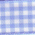 Small Check Ribbon - Pale Blue 54102-710