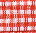 Small Check Ribbon - Red 54102-409