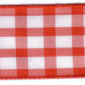 Red & White Check Ribbon (Large Check) 1141-15