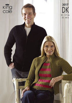 3017 DK - Knitting Pattern Adults*