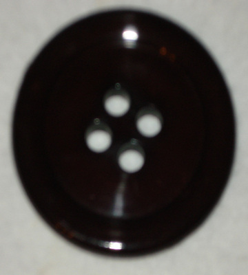 50mm Button Large Dark Brown