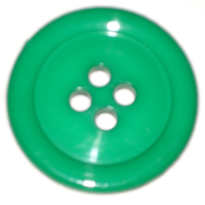 50mm Button Large Emerald Green