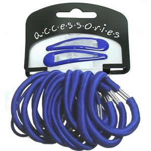 Elastics & Hair Clips  - Blue HA280704