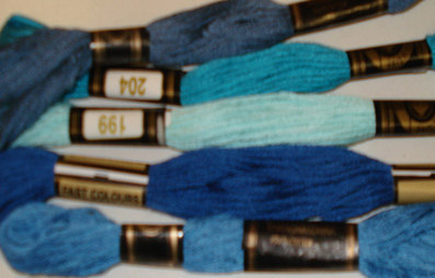 Embroidery Threads Blues PK5