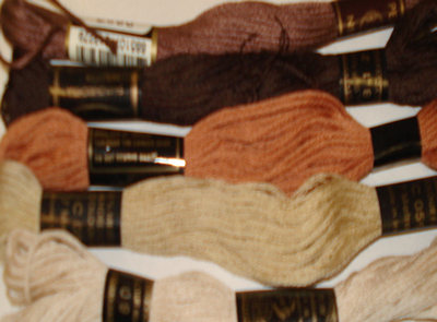 Embroidery Threads (Browns) PK5