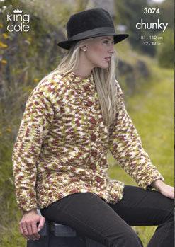 3074 Chunky - Knitting Pattern - Adult*
