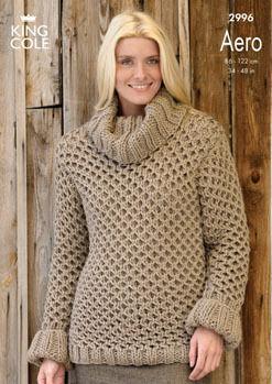 2996 Aero - Knitting Pattern Ladies*