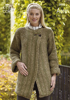 3002 Knitting Pattern -  Ladies Aero*