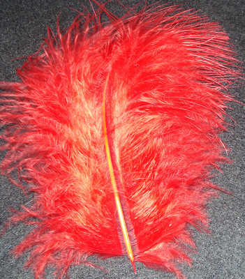 Marabou Feather - Red