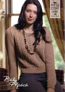 3106 Knitting Pattern - Ladie's  Baby Alpaca DK*