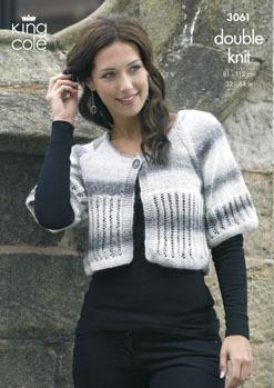 3061 Knitting Pattern - Ladie's DK*