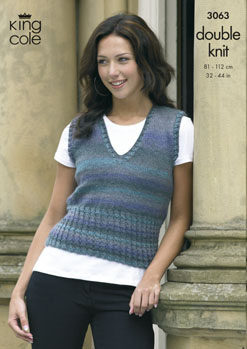 3063 DK - Knitting Pattern - Ladies Mirage*