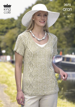 3075 Knitting Pattern - Aran (Ladies)