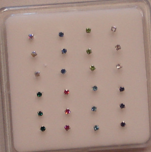 Small Nose studs (PK 3)