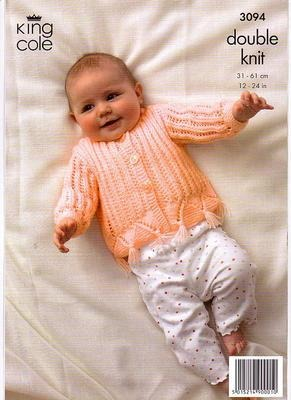 3094  Double Knit - Knitting Pattern Babies*