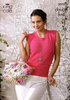 3070  Double Knit - Ladie's Knitting Pattern