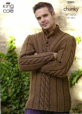 3091  Chunky - Knitting Pattern (Mens)*