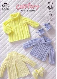 3116 Knitting Pattern - Comfort 4Ply & DK