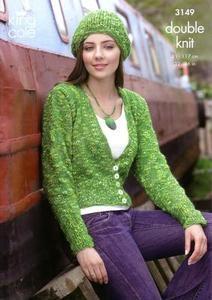 3149 Knitting Pattern - Ladie's DK*