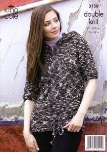 3150 Knitting Pattern - Ladie's DK*