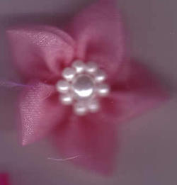 Chiffon Flower with Pearls - Pink