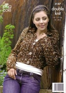 3147 Knitting Pattern - Ladie's DK*
