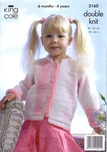 3160 Knitting Pattern - Double Knit ( Melody)