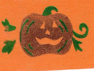 Pumpkin Ribbon - 39mm wide