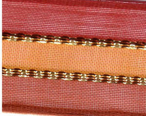 Striped Copper Sevilla Ribbon - 25mm Wide