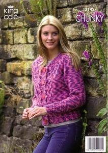 3142 Knitting Pattern - Chunky
