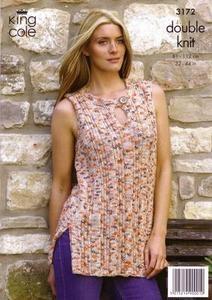 3172 Knitting Pattern - Ladie's DK*