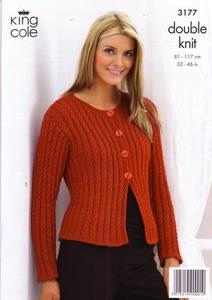 3177 Knitting Pattern - Double Knit