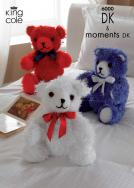 6000 Knitting Pattern Teddy - DK and Moments DK