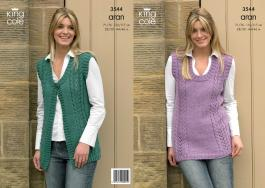 "3544 Knitting Pattern - Aran Ladies 28/30 - 44/46""*"