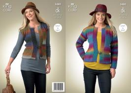 "3480 Knitting Pattern - DK Ladies 32"" - 42"" Easy Knit*"
