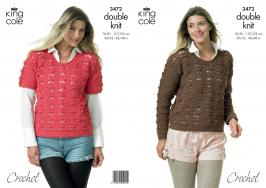 3472 Crochet Pattern - Double Knit 30/32